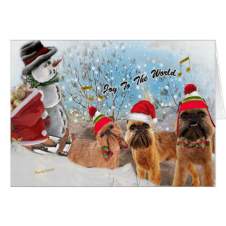 Brussels Griffon Joy To The World Cards