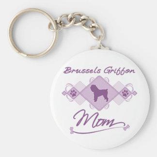 Brussels Griffon Mom Keychain