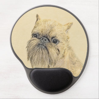 Brussels Griffon Painting - Cute Original Dog Art Gel Mouse Pad