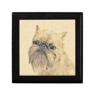 Brussels Griffon Painting - Cute Original Dog Art Gift Box