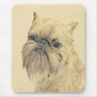 Brussels Griffon Painting - Cute Original Dog Art Mouse Pad