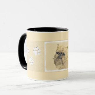 Brussels Griffon Painting - Cute Original Dog Art Mug