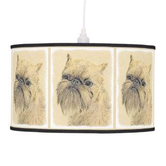 Brussels Griffon Painting - Cute Original Dog Art Pendant Lamp