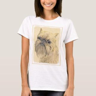 Brussels Griffon Painting - Cute Original Dog Art T-Shirt