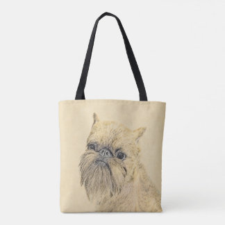 Brussels Griffon Painting - Cute Original Dog Art Tote Bag