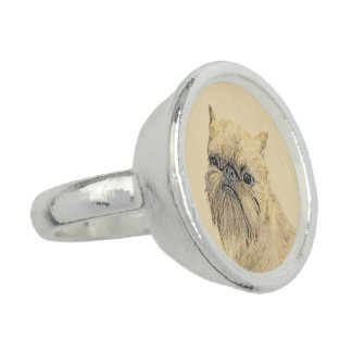 Brussels Griffon Photo Rings