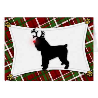 Brussels Griffon Reindeer Christmas Card
