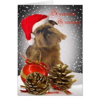 Brussels Griffon Season Greetings Cards