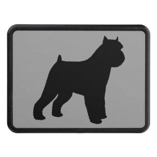 Brussels Griffon Silhouette Trailer Hitch Cover