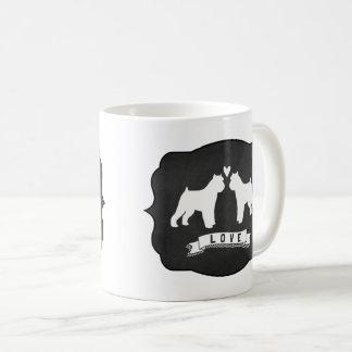 Brussels Griffon Silhouettes Love Coffee Mug