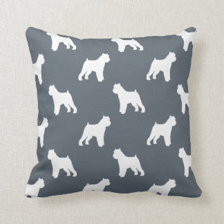 Brussels Griffon Silhouettes Pattern Throw Pillow
