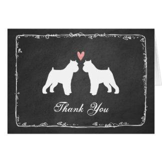 Brussels Griffon Silhouettes Wedding Thank You Card