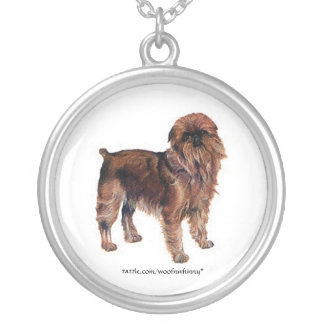 Brussels Griffon Silver Plated Necklace