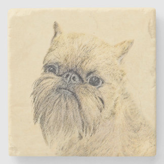 Brussels Griffon Stone Coaster
