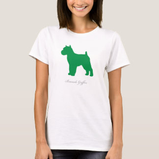 Brussels Griffon T-shirt (green docked version)