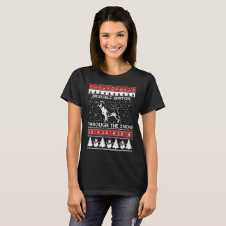 Brussels Griffon Through The Snow T-shirt
