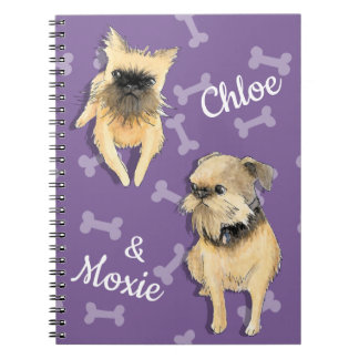 Brussels Griffons Personalized Spiral Notebook