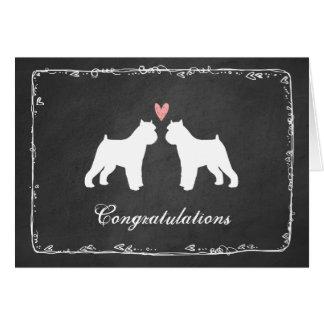 Brussels Griffons Wedding Congratulations Card