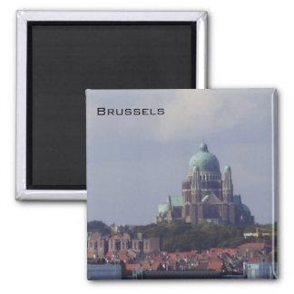 Brussels - Sacre Coeur Square Magnet