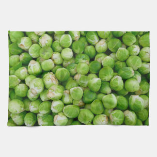 Brussels sprouts cabbage kitchen towel