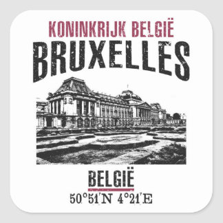 Brussels Square Sticker