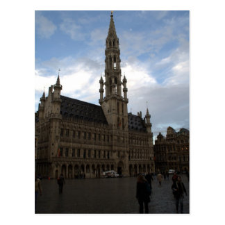 Brussels Town Hall Postcard