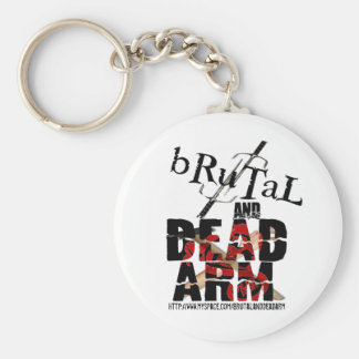 bRuTaL and Dead Arm Logo Key Chain