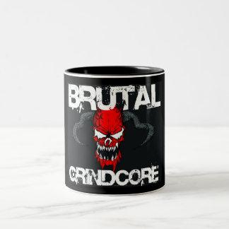 Brutal Grindcore Two-Tone Coffee Mug
