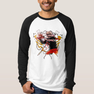 "Brutal Muse ""Football"" Raglan Long-Sleeve T-Shirt"