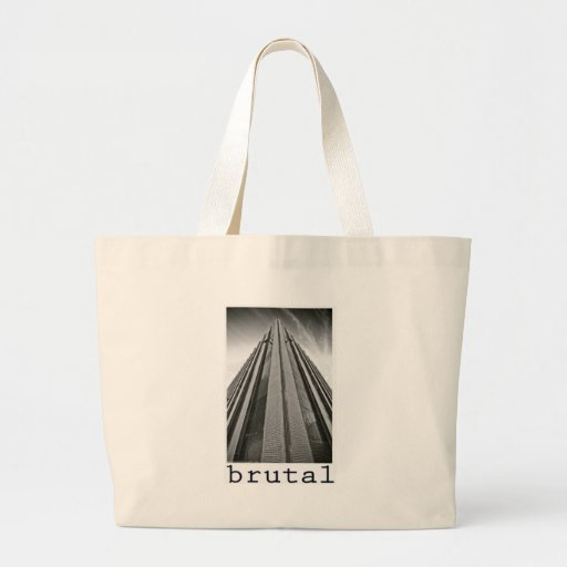 brutalism canvas bags