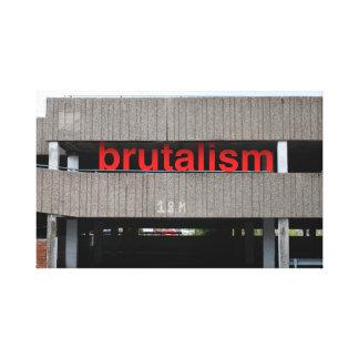 Brutalism Car Park canvas