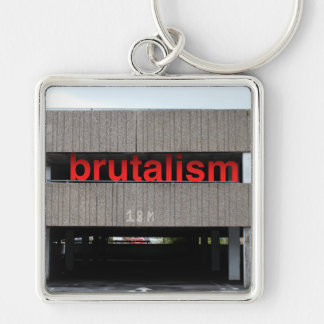 Brutalism Car Park Key Chain