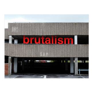 Brutalism Car Park Postcard