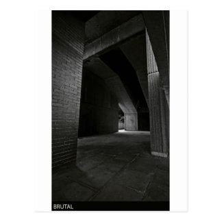 brutalism postcard