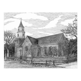 Bruton Parish Church, Williamsburg Postcard