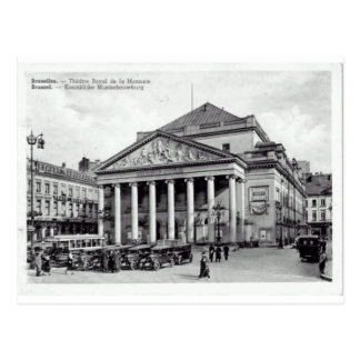 Bruxelles, Belgium Theatre Royal Postcard