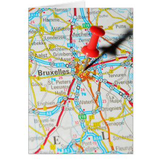 Bruxelles, Brussel, Brussels  in Belgium Card