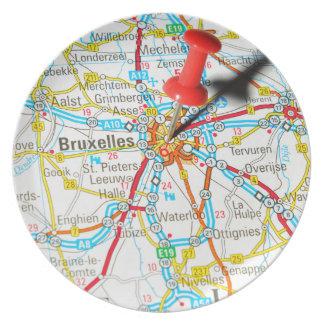 Bruxelles, Brussel, Brussels  in Belgium Plate