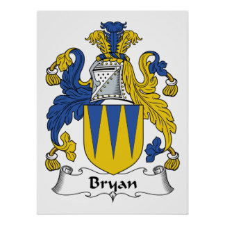 Bryan Family Crest Poster