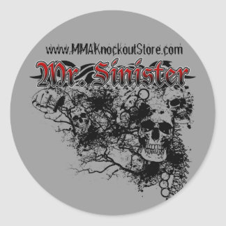 "Bryan ""Mr. Sinister"" Kemp MMA Fighter Sticker"