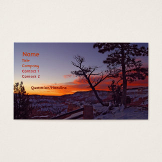 Bryce Canyon Business Card