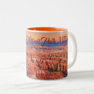 Bryce Canyon Desert Sunset Photo Two-Tone Coffee Mug