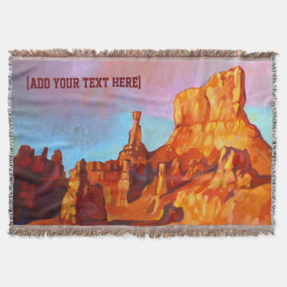 Bryce Canyon National Park - The Sentinel Throw Blanket