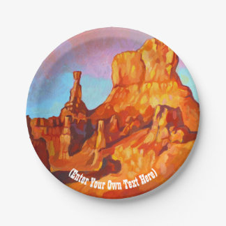 Bryce Canyon National Park - Utah 7 Inch Paper Plate