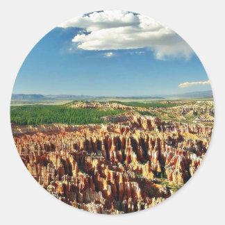 Bryce Canyon National Park Utah Hoodoos Classic Round Sticker