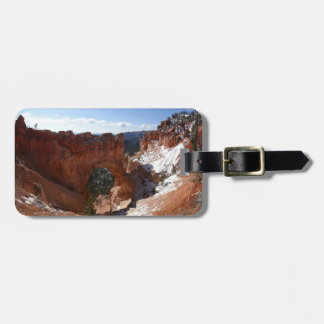 Bryce Canyon Natural Bridge Snowy Landscape Photo Luggage Tag