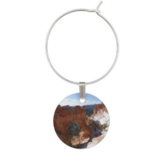 Bryce Canyon Natural Bridge Snowy Landscape Photo Wine Charm