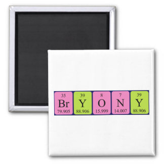 Bryony periodic table name magnet