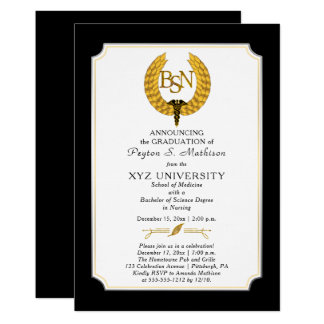 BS - Bachelor of Science Nursing Graduation Card