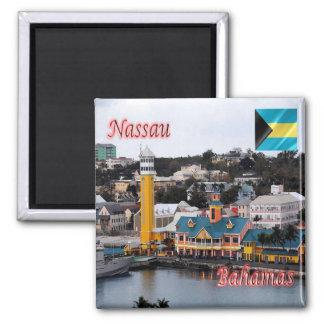 BS - Bahamas - Nassau - Cruise Ship Terminal Square Magnet